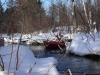 Kayaking in the Winter on the North Branch of the AuSable River