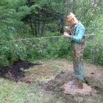The Copper Fisherman Statue in Lovells, Michigan